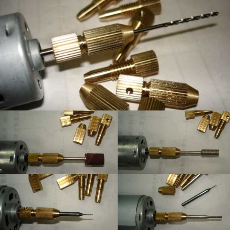 1 Pc 2.3mm 3.17mm Micro Drill Clamp Fixture Chuck 0.7-3.2mm Electric Motor Shaft D08F