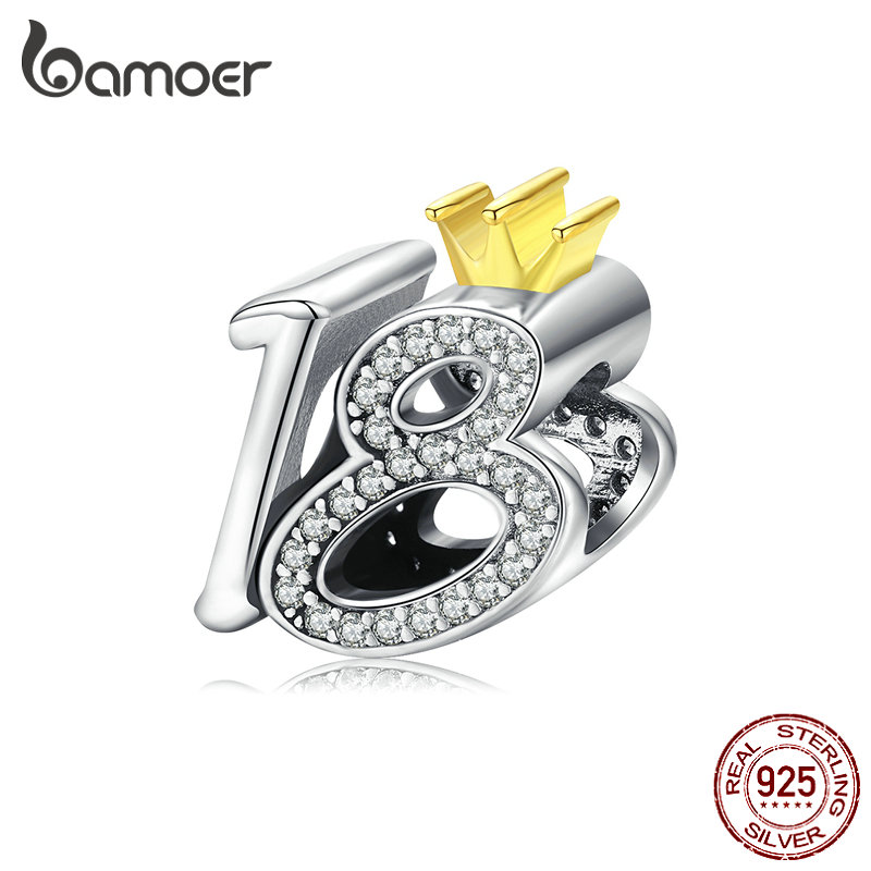 Bamoer Retro S925 Sterling Silver Charms Family-tree Pendant Fitting Bracelets