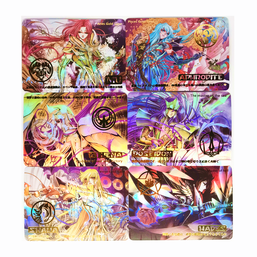 9pcs/set Saint Seiya The First Holy Sacred Legend Bronzing EmblemToys Hobbies Hobby Collectibles Game Collection Anime Cards