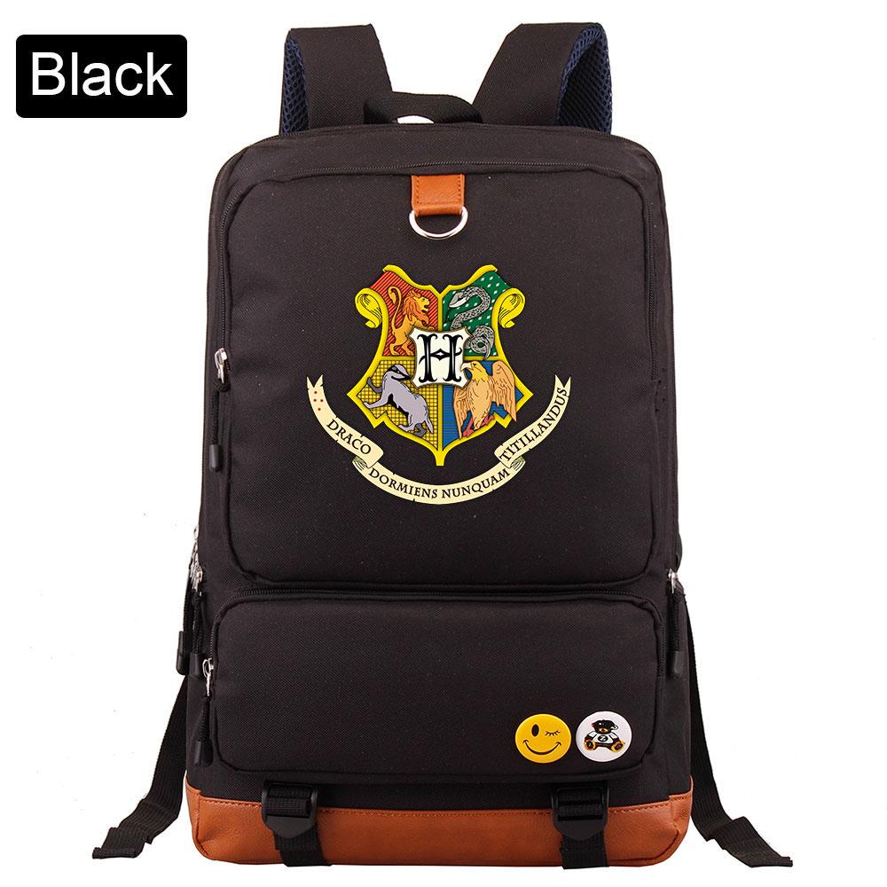 Image 2 - D0304 Magic Hogwarts Snake Lion Eagle Boy Girl Book School bag Women Bagpack Teenagers Schoolbags Men Student Patchwork BackpackBackpacks   -