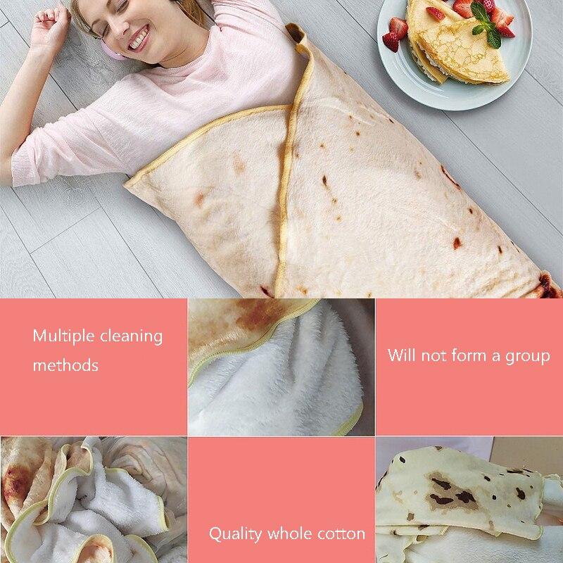 Bedding Corn Tortilla Burrito Blanket Made Of Cotton Fabric Picnic and Beach Use 2