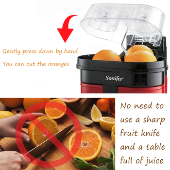 Fast Double Juicer 90W Electric Lemon Orange Fresh Juicer With Anti-drip Valve Citrus Fruits Squeezer Household 220V Sonifer 3