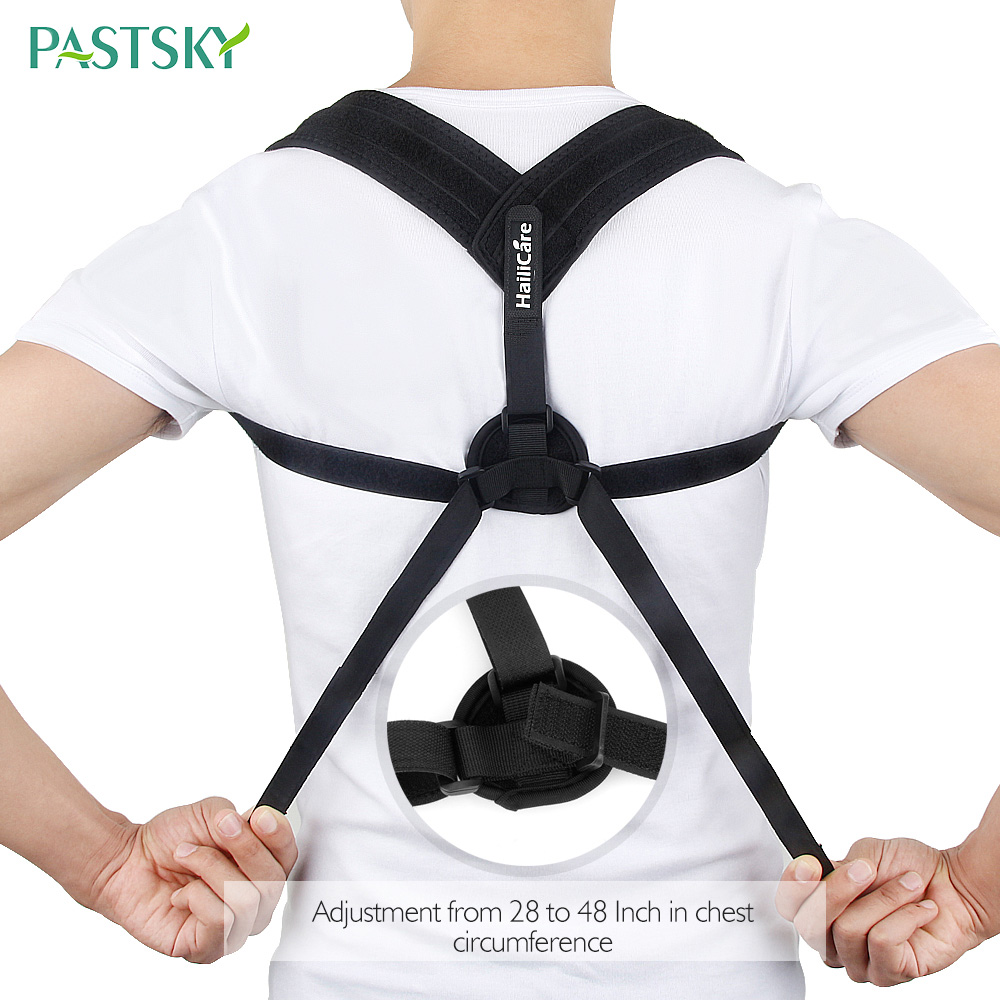 Upper Back Shoulder Posture Corrector Clavicle Spine Lumbar Brace Support Belt Correction