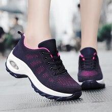 Buty do tenisa kobieta oddychająca poduszka powietrzna Zapatos Mujer komfort wysokość zwiększenie sznurowane miękkie kobiece siłownia na świeżym powietrzu sportowe trampki