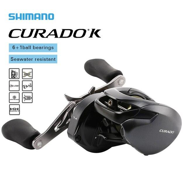 시마노 CURADO K 로우 프로파일 낚시 릴 201/200HG/201HG 200XG/201XG 기어비 6.2:1/7.4:1/8.5:1 6 + 1BB 미끼 주조 릴