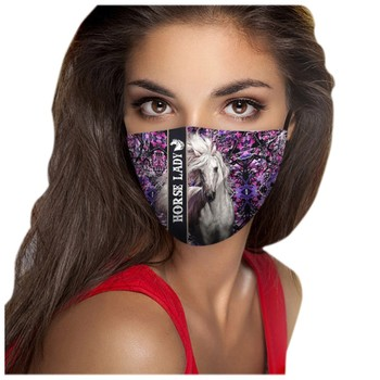 1PC Adult Cycling Face Mask Unisex masque chirurgical lavabl Reusable Activated Carbon Outdoor Face Protection Cycling Face Mask image