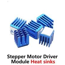 Bloc de refroidissement pour imprimante 3D, 5 pièces/lot, A4988 DRV8825 LV8729 TMC2100 TMC2208, Module de pilote de moteur pas à pas, dissipateurs thermiques