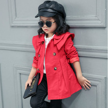 New Spring Autumn Girls Jacket Children's Clothing Girl Trench Coat Kid