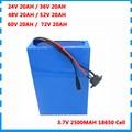 24V 36V 48V 52V 60V 72V 20AH Lithium-batterie 20AH Elektrische Fahrrad Roller Batterie mit 30A BMS 2A ladegerät