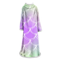 Mermaid Scales Printed Thicken Square Sleeve Blanket Super Soft Warm Comfortable Plush Sofa Bed Cover Throw Sofa Towel Bedspread