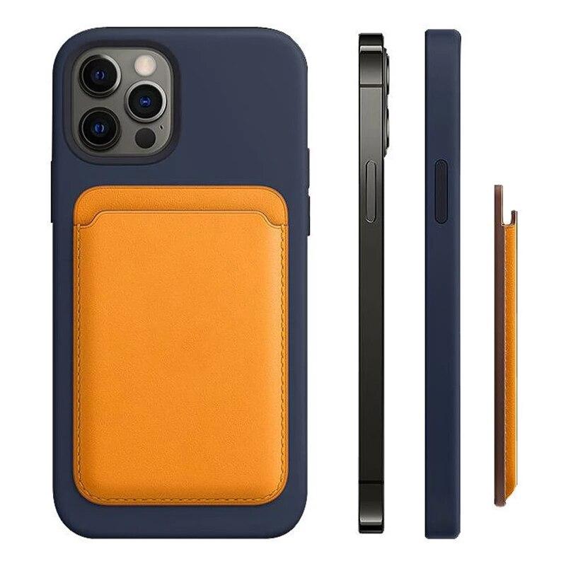 Кожаный чехол-бумажник с кармашком для карт, Магнитный чехол для iPhone 12 Pro Max, Магнитный чехол для телефона iPhone12, Fundas Coque