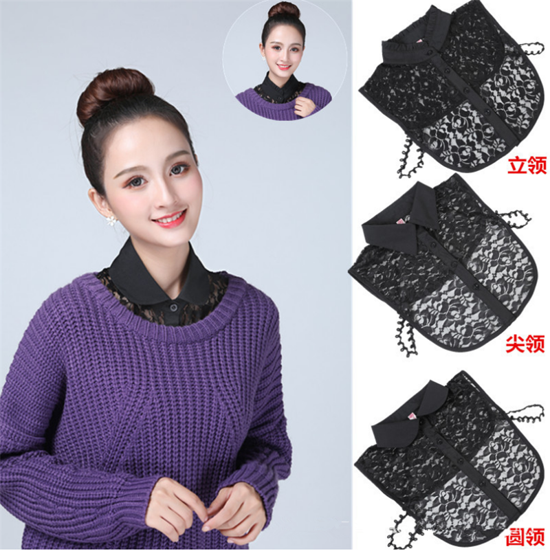 Detachable Collar Newly Design Women Lace Hollow Out Vintage Fake Shirt Detachable Necklace Choker Collar 2019 New