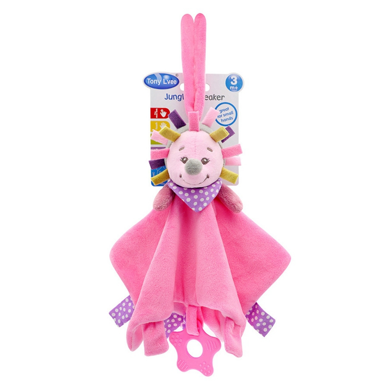 Lovely Newborn Baby Soft Plush Animal Doll Teethers Infant Appease Towel Grasping Rattles Playmate Toys High Quality