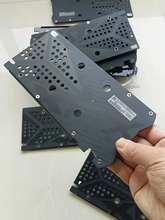 Placa de proteção gráfica usada para xfx rx470 rx480 rx570 rx580 4gb 8gb 2304sp 2048sp não facilmente deformado dissipação de calor