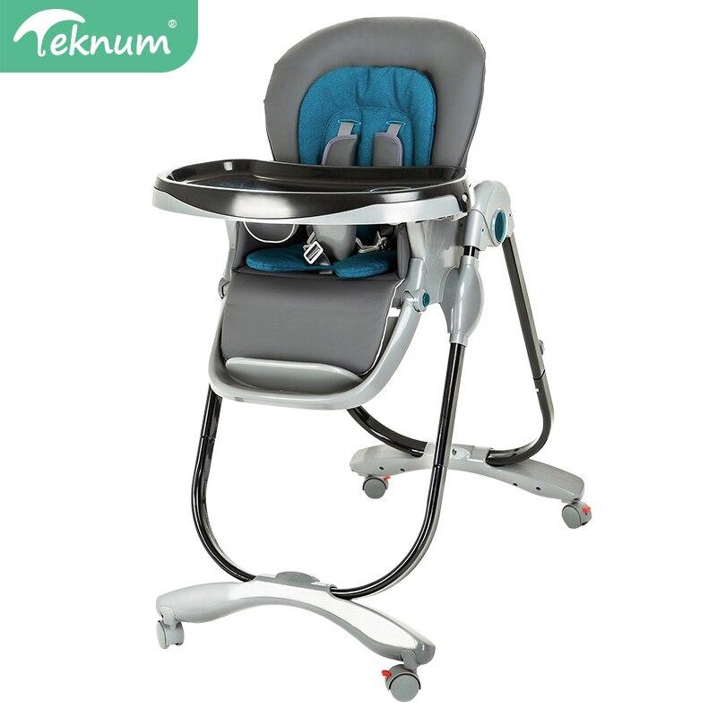кресло трансформер для детей - TEKNUM  Highchair foldable Easy to carry Baby chair