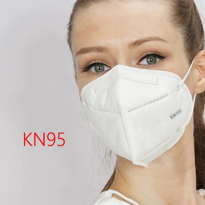 Anti PM2.5 Mask 1 Pcs KN95 Anti-fog Dust-proof Breathable Disposable Anti Droplet Masks Ears Wearing Non-woven Fabric Masks