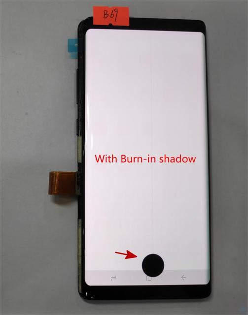 "Super amoled do Samsung Galaxy Note8 uwaga 8 N9500 N950FD N950U wady wyświetlacz Lcd montaż digitizera ekranu dotykowego 6.3"""