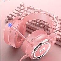 Auriculares con cable para PC, cascos plegables estéreo con micrófono Flexible ajustable para ordenador portátil/PC/móvil, regalo para niñas