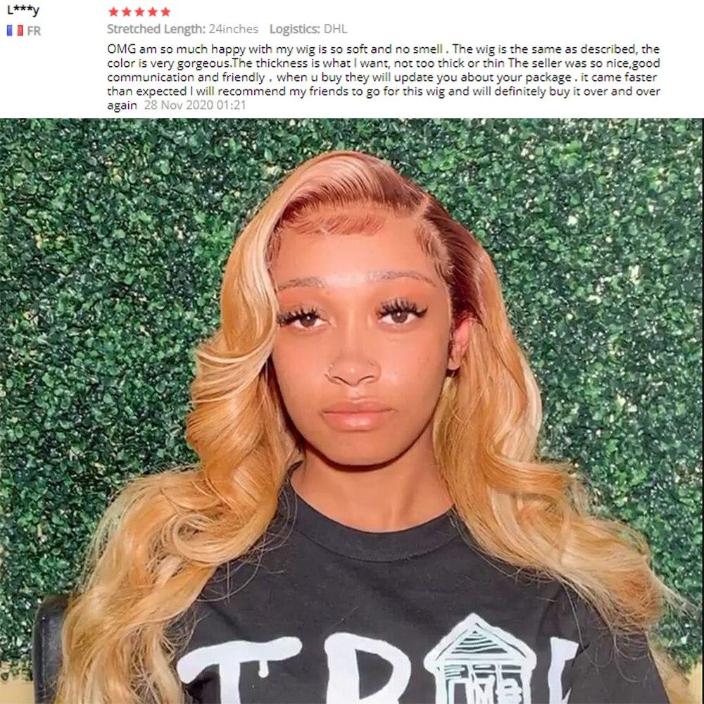 loira ombre peruca de cabelo humano pré-arrancada