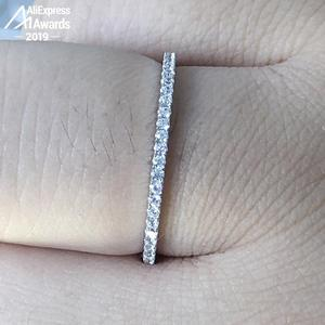 Image 3 - עגול לחתוך S925 סטרלינג כסף טבעת SONA יהלומי Halo טבעת יפה ייחודי סגנון אהבת חתונת אירוסין