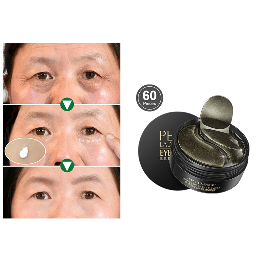 Lasting Moisturizing Eye Patch Remove Dark Circles And Eye Bags Drops Lifting Black Pearl Anti Wrinkle Anti Aging Skin Care Mas image