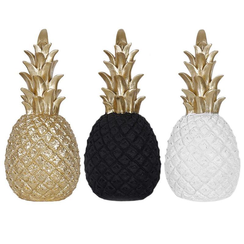 >Nordic Style Modern Pineapple <font><b>Ornaments</b></font> Synthetic Resin Individual Metal Finishes Living Room Desktop <font><b>Home</b></font> <font><b>Decoration</b></font>