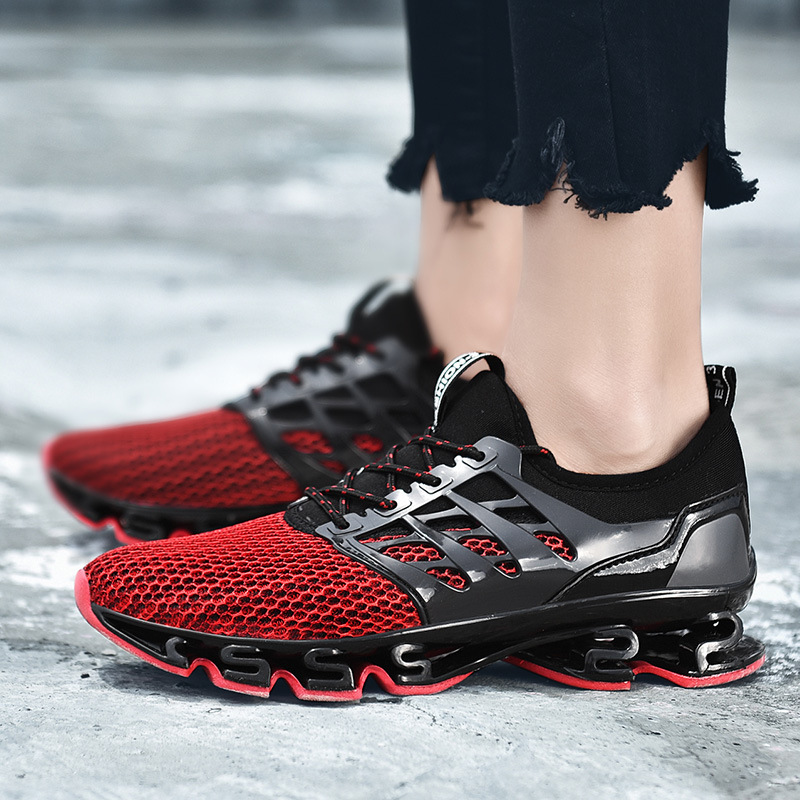 2019 Fashion New Men's Outdoors Running Shoes Male Breathable Sneakers Lace up Flats Sport Jogging Shoes
