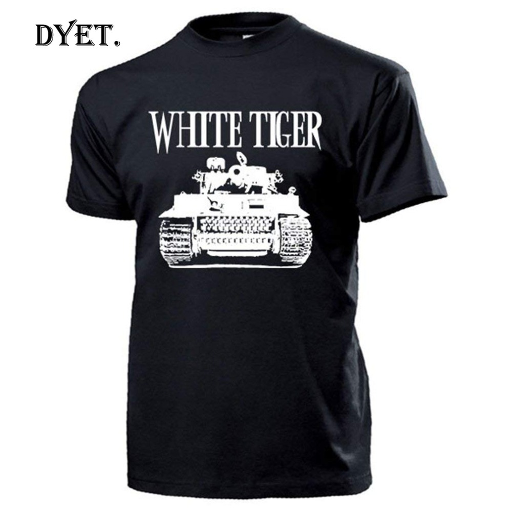 2019 New Fashion Brand Male White Bengal Tiger <font><b>Tank</b></font> Ww2 Legend Movie Russia Armoured <font><b>Tank</b></font> <font><b>T34</b></font> <font><b>Tank</b></font> Killer#14195 Best Shirts image