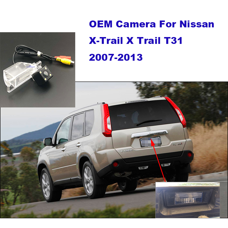 Yessun HD CCD Night Vision Car Rear View Reverse Backup Camera For Nissan X-Trail 2010 For Nissa X Trail 2010  T31 2007-2013