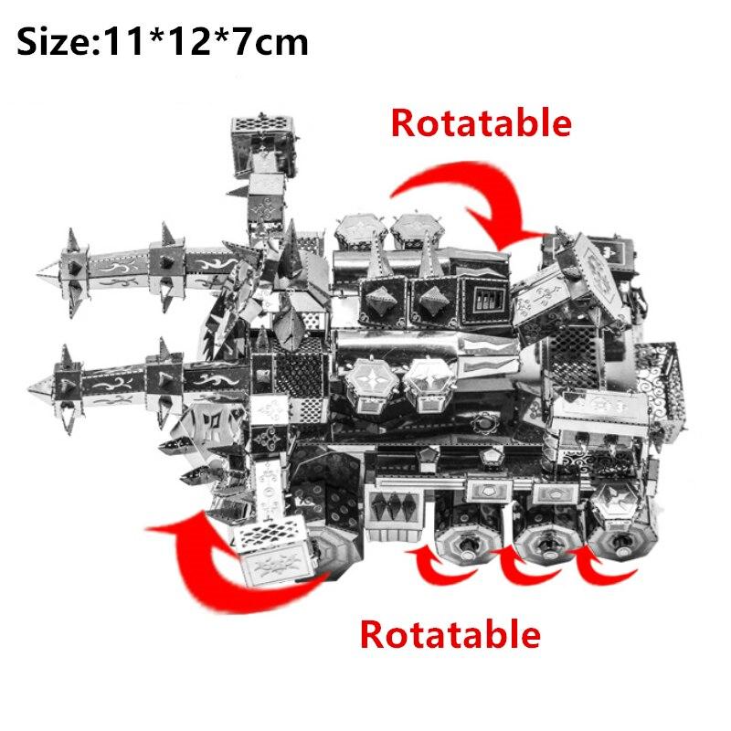 3D Metal Puzzle Model Kit DIY Stainless Steel Starship DOCTOR WHO TARDIS Animal Ship Adult Jigsaw DIY Jigsaw Manual Gift Toys 19