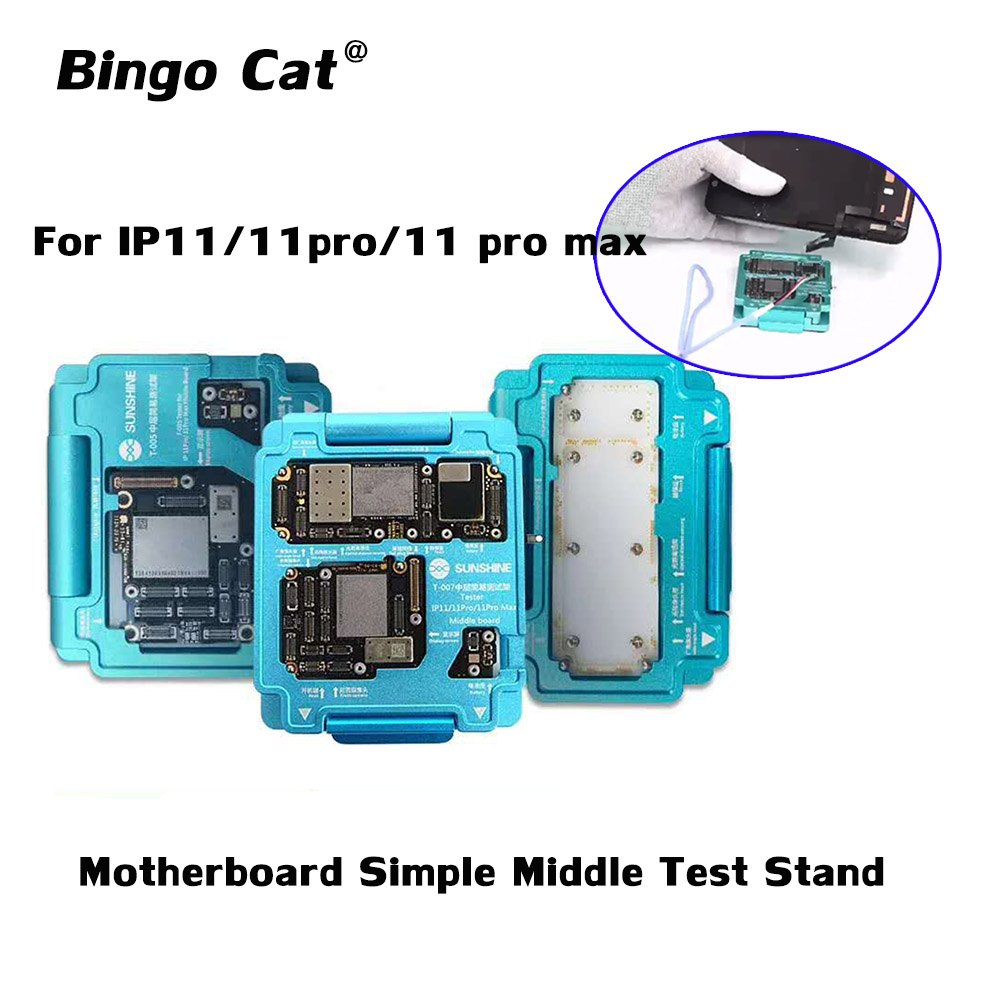 Sunshine For IPhone 11 11pro 11 Pro Max X XS MaxMotherboard Tester Fixture Middle Test Stand Middle Layer Logicboard Repair Tool