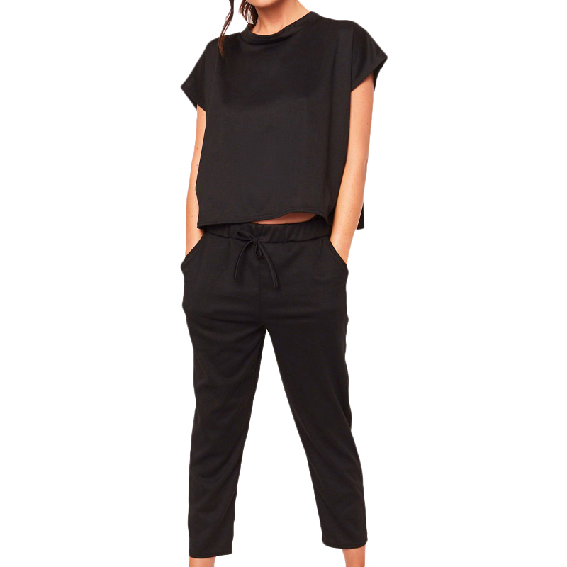 VICABO Women Set Summer 2 Pieces Top And Pants Fashion Solid Color Casual Clothes Set For Women Drop Shipping