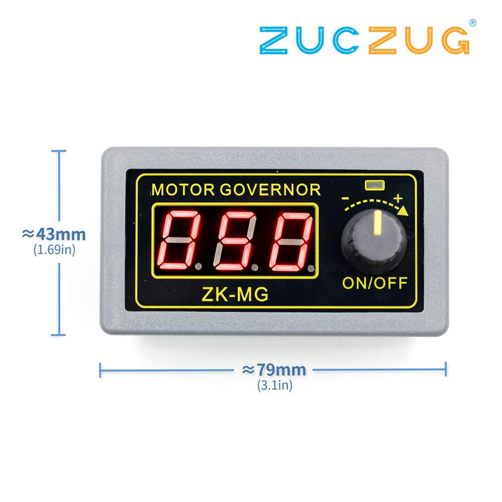 <font><b>DC</b></font> <font><b>5</b></font>-30V 12v 24v <font><b>5A</b></font> <font><b>DC</b></font> Motor Controller PWM Adjustable Speed Digital display encoder duty ratio frequency MAX15A image