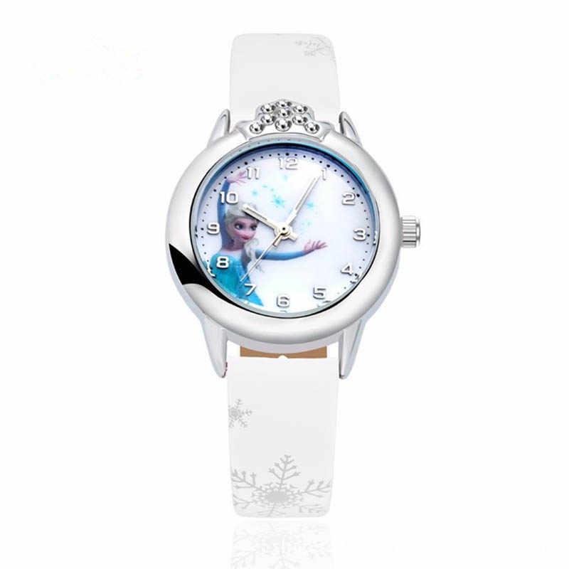 FIONTO 2019 новые Relojes мультфильм часы принцессы модные детские часы милый резиновый кожаный кварцевые часы девушка CE0519/5