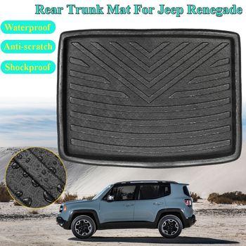 New PE+EVA for Jeep Renegade 2014 2015 2016 2017 2018 Rear Cargo Liner Boot Trunk Floor Mat Tray Carpet Mats Mud Kick|  -
