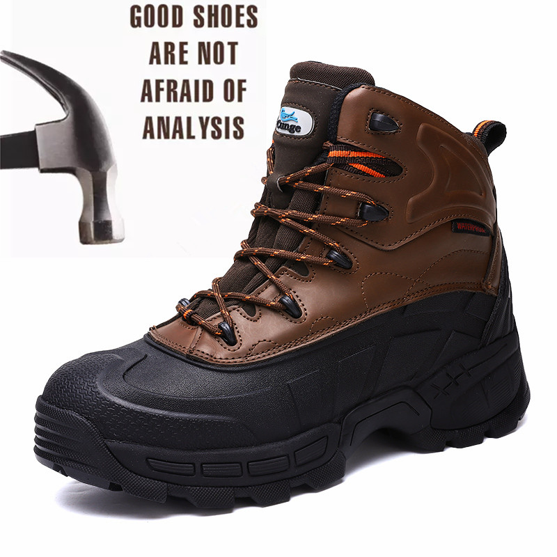 2019fashion New Style Mens Steel Toe Work Safety Lightweight Breathable Anti-smashing Anti-puncture Anti-static Protective Boots