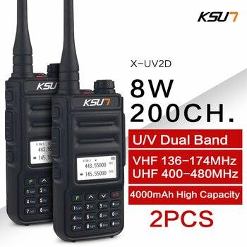 KSUN  Walkie Talkie Dual Band Handheld Two Way Ham Radio Communicator HF Transceiver Amateur Handy Walkie-talkie 1