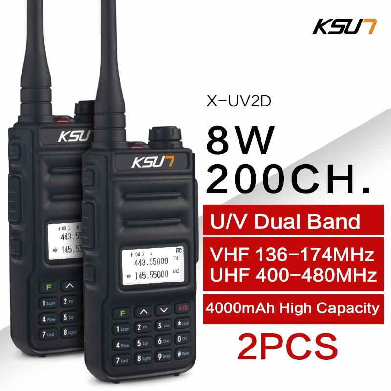 KSUN Двухдиапазонная портативная рация, двухсторонняя любительская радиостанция, HF трансивер, Любительская Удобная рация