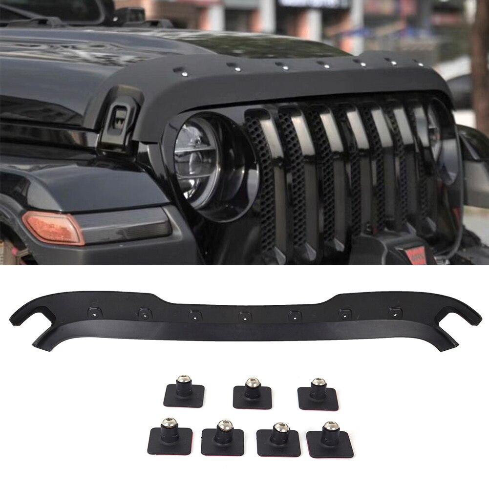 Pour Jeep Wrangler JL voiture capot protecteur Trail armure capot pierre garde noir mat