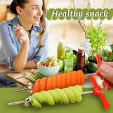 Taglierina a spirale in acciaio inossidabile macchina rotante affettatrice manuale utensili creativi sani per frutta e verdura affettatrice a spirale utensili da cucina