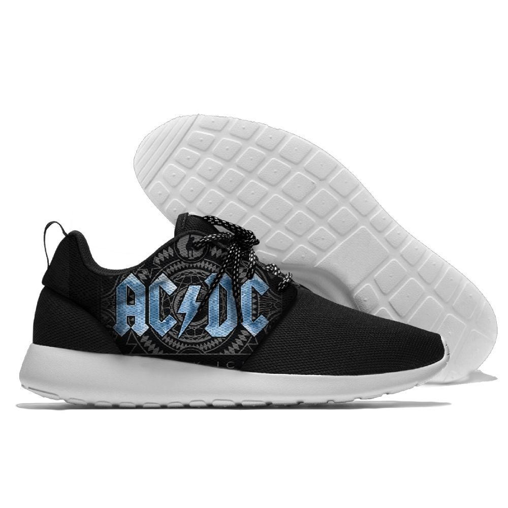 Rock Music Band AC DC Design Outdoor Cool Running Shoes Lace-up Sneakers Breathable Mesh Shoes Eva Athletic Sport  Shoes