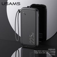 USAMS 22.5W PD3.0+QC3.0 Fast Charging 10000mah Powerbank For Iphone 12 pro Max 11 8 USB Type C Phone External Battery Power Bank
