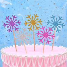 Birthday Cake Decorations Various Color Snowflake Shapes Birthday Cake Decoration Party Supplies Kids Birthday Party 10 Pieces 8 pieces creative colorful curve birthday cake spiral candle kids birthday party wedding cake candle home decoration supplies