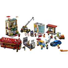 02114 1356pcs City Series The City Square Museum Hotel Model Building Blocks Brick Educational Toys For Children  60200 Gift building blocks girls series the heartlake grand hotel model finger brick compatible 41101 educational toys for kids