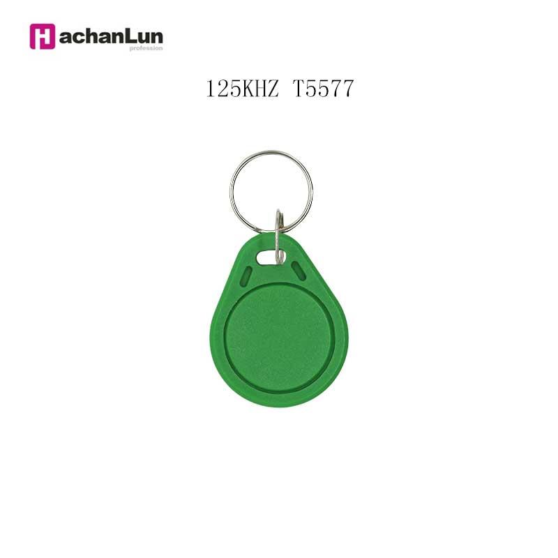 10/50/100 Color Random EM4305 T5577 RFID Repeated Write Keychain Control  125KHZ Access Card Replicator Tag Access