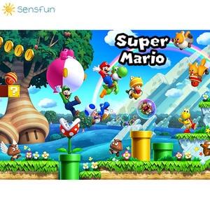 Image 2 - Sensfun Custom Super Marios Photography Backdrops Kids Birthday Party Photo Background High Quality Vinyl Background Photocall