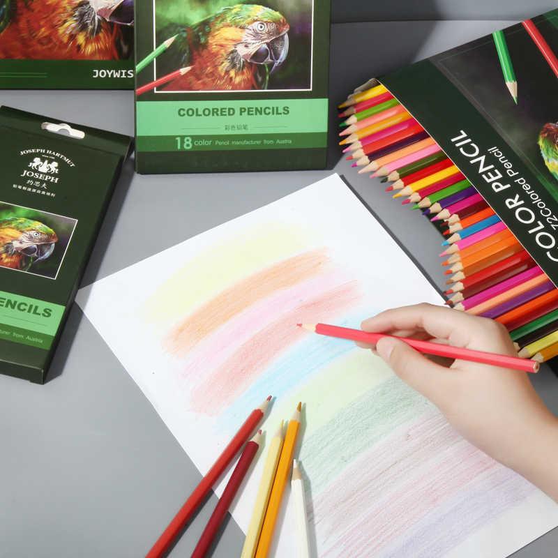 12 สีCartoned Professionalน้ำมันตะกั่วดินสอสีชุดศิลปินภาพวาดSketchingดินสอสีไม้วาดโรงเรียนอุปกรณ์