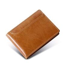 Genuine leather Business Credit card holder Short Slim Wallet for cards Casual card case for driver's license New Cards holder