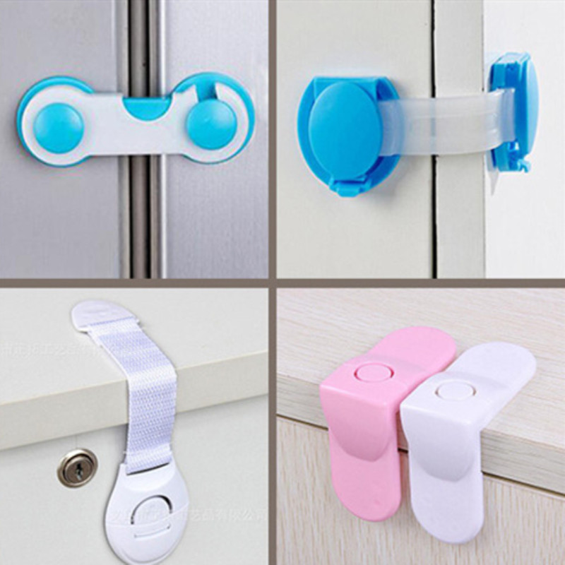 Safety-Lock Security-Protector Drawer Baby Care Cupboard Cabinet-Door Children Multi-Function