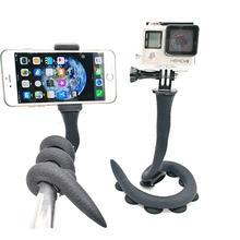 купить Flexible Smartphone Selfie Stick  Lazy Snake Phone Pod  Camera Tripod Mount with Ball Head  Suction Cup Pad for Gopro SJCAM дешево